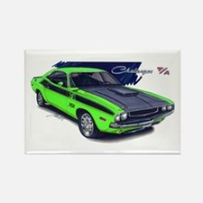 Dodge Challenger Green Car Rectangle Magnet