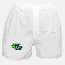 Dodge Challenger Green Car Boxer Shorts