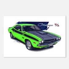 Dodge Challenger Green Car Postcards (Package of 8