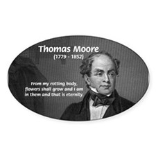 Eternal Poetry Thomas More Oval Decal