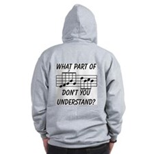 What Part Of Musical Notation Zip Hoodie