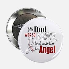 """Angel 1 DAD Lung Cancer 2.25"""" Button"""