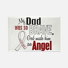 Angel 1 DAD Lung Cancer Rectangle Magnet
