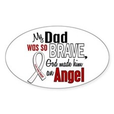 Angel 1 DAD Lung Cancer Oval Decal