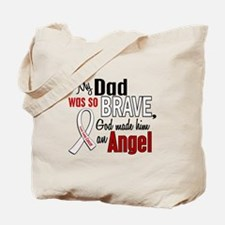 Angel 1 DAD Lung Cancer Tote Bag