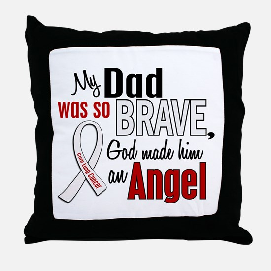 Angel 1 DAD Lung Cancer Throw Pillow