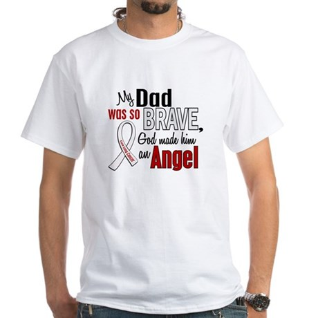 Angel 1 DAD Lung Cancer White T-Shirt