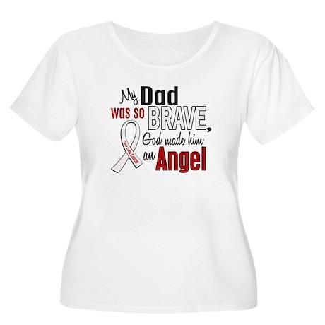 Angel 1 DAD Lung Cancer Women's Plus Size Scoop Ne