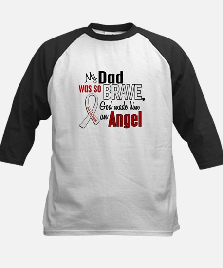 Angel 1 DAD Lung Cancer Kids Baseball Jersey