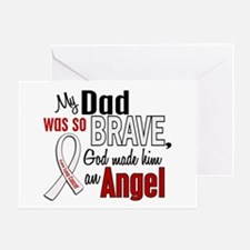 Angel 1 DAD Lung Cancer Greeting Card