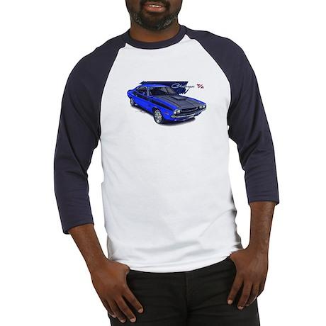 Dodge Challenger Blue Car Baseball Jersey
