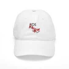 Butterfly 3 AIDS AWARENESS Baseball Cap