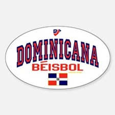 Dominicana Baseball Beisbol Oval Decal