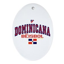 Dominicana Baseball Beisbol Oval Ornament