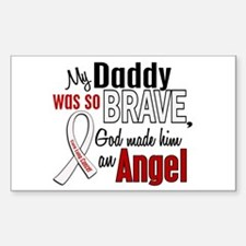 Angel 1 DADDY Lung Cancer Rectangle Decal