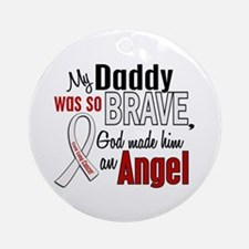 Angel 1 DADDY Lung Cancer Ornament (Round)