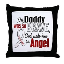 Angel 1 DADDY Lung Cancer Throw Pillow