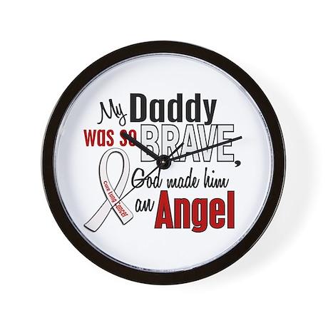 Angel 1 DADDY Lung Cancer Wall Clock