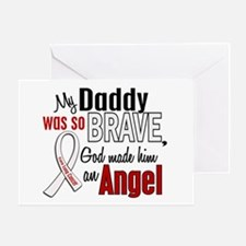 Angel 1 DADDY Lung Cancer Greeting Card