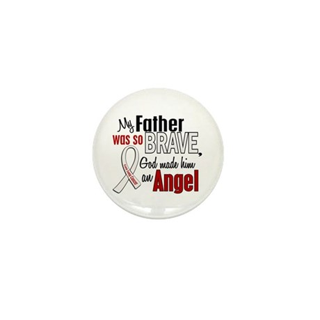 Angel 1 FATHER Lung Cancer Mini Button