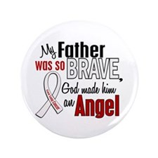"""Angel 1 FATHER Lung Cancer 3.5"""" Button"""