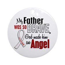 Angel 1 FATHER Lung Cancer Ornament (Round)