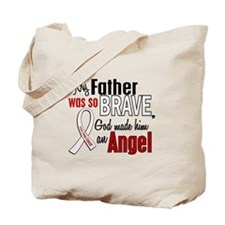 Angel 1 FATHER Lung Cancer Tote Bag