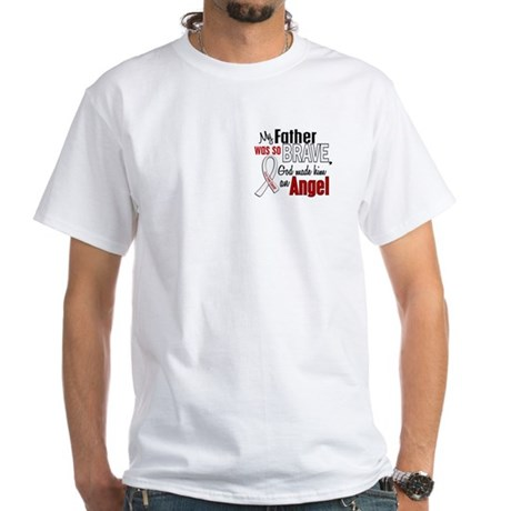 Angel 1 FATHER Lung Cancer White T-Shirt