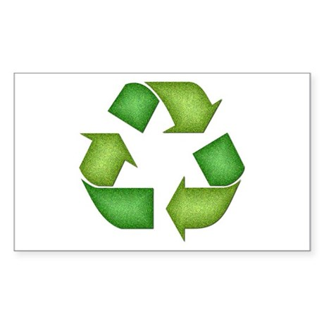 Recycle Symbol Rectangle Sticker