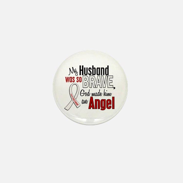 Angel 1 HUSBAND Lung Cancer Mini Button