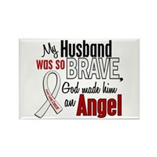 Angel 1 HUSBAND Lung Cancer Rectangle Magnet