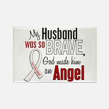 Angel 1 HUSBAND Lung Cancer Rectangle Magnet