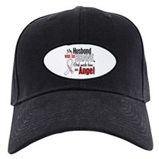 Angel 1 HUSBAND Lung Cancer Baseball Hat