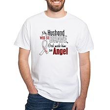 Angel 1 HUSBAND Lung Cancer Shirt