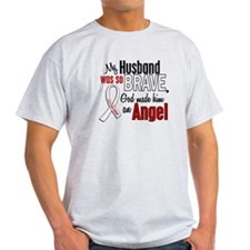 Angel 1 HUSBAND Lung Cancer T-Shirt