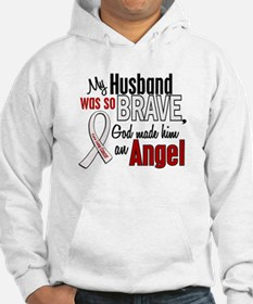 Angel 1 HUSBAND Lung Cancer Hoodie