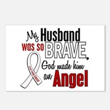 Angel 1 HUSBAND Lung Cancer Postcards (Package of