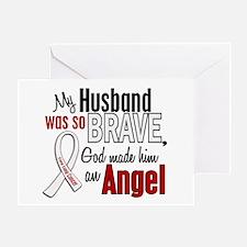 Angel 1 HUSBAND Lung Cancer Greeting Card
