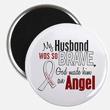 """Angel 1 HUSBAND Lung Cancer 2.25"""" Magnet (10 pack)"""