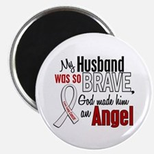 Angel 1 HUSBAND Lung Cancer Magnet