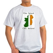 One Island, One Ireland Ash Grey T-Shirt