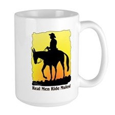 Real Men Ride Mules Mug