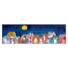 Moonviewing Cats 2 Bumper Bumper Sticker