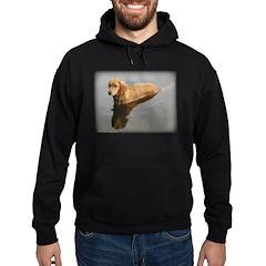 Wet Golden Retriever Hoodie (dark)