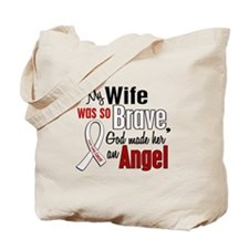 Angel 1 WIFE Lung Cancer Tote Bag