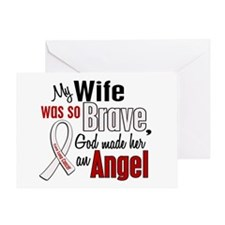Angel 1 WIFE Lung Cancer Greeting Card