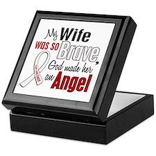 Angel 1 WIFE Lung Cancer Keepsake Box