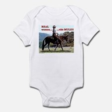Real Women Ride Mules Infant Bodysuit
