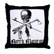 North Manitou Pirate Throw Pillow