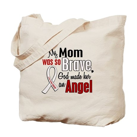 Angel 1 MOM Lung Cancer Tote Bag